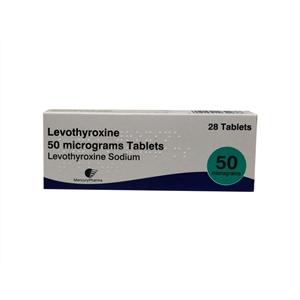 Levothyroxine 50mcg Tablets 28