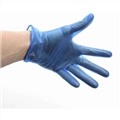 Vinyl Gloves Blue Powder Free -Medium-